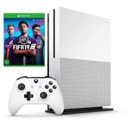 Console Xbox One S 4K 500GB + Fifa 19 Troco Parcelo