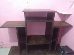 Vendo rack madeira pau d'Arco ou troca em uma mesa