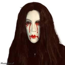 Máscara de Látex p/ Hallloween / Cosplay - Mulher com Sangue - Nova, sem qualquer uso!
