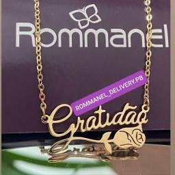Título do anúncio: Colar Gratidão Rommanel Folheado à Ouro 18k