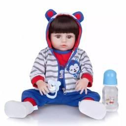 Título do anúncio: Boneco Reborn de 47cm100% Silicone (NÃO FAÇO MENOR PREÇO)