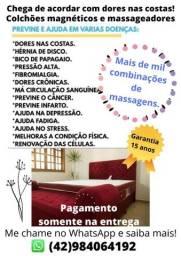 Título do anúncio: Colchão MAGNÉTICO e massagedor