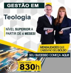 Título do anúncio: Curso Superior em Gestão de Teologia - Curta Duração, EAD
