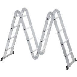 Escada articulada em alumínio, 4 x 4, Vonder (Nova)