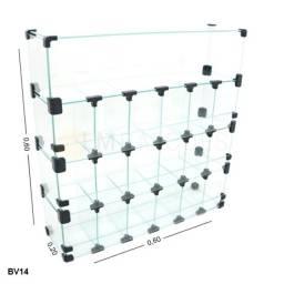 Título do anúncio: Baleiro de Doces Display de Vidro 0,60 x 0,60 x 0,20 !