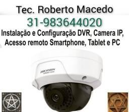 Título do anúncio: Tec. CFTV, Serviço de instalação e configuração, Tenha acesso remoto as câmeras 24h