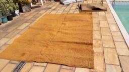 Tapete grande 2 x 3 metros liso cor marrom tipo caramelo