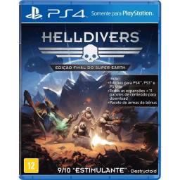 Helldivers Edição Super Earth Ps4 Mídia Física Usado