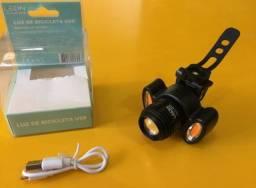 Título do anúncio: Farol e lanternas de bicicletas