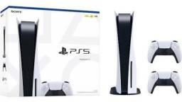 Título do anúncio: Console Playstation 5 Disco + 2 Controles Ps5 Lacrado - Garantia 1 Ano