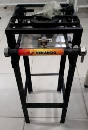 Fogão industrial baixa pressão FF1CDP C/PÉ marca Venâncio