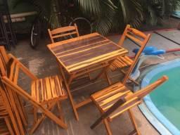 Título do anúncio: Conjunto mesa com 4 cadeiras dobráveis (promoção)