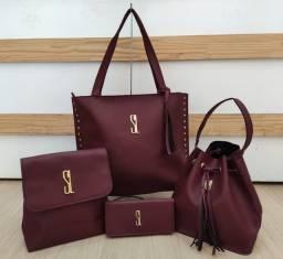 Promoção Kit com 4 bolsas de luxo