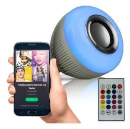 Título do anúncio: Lâmpada de Led com Caixa de som e controle remoto.