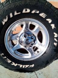 Roda de liga leve com pneu Ranger
