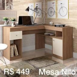 Mesa para escritório com compartimentos Nilo