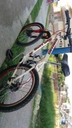 Bicicleta aro 20 com freio a disco e com machar