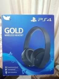 Headset gamer sony gold serie ouro fone gamer