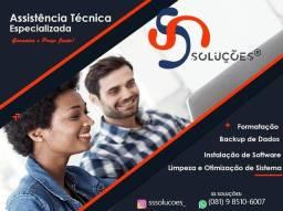 Título do anúncio: Técnico Formatação Notebook Domicílio ( Olinda - Várzea - Zona Norte - Camaragibe )