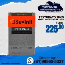 Texturato Efeito Brilho 28kg Suvinil Cinza