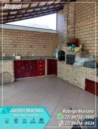 Título do anúncio: Alugo linda casa c/ área gourmet e hidromassagem no bairro Jardim Mariléa, Rio das Ostras
