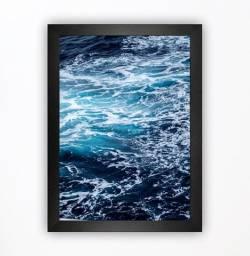 Quadro Decorativo água azul marinho mar