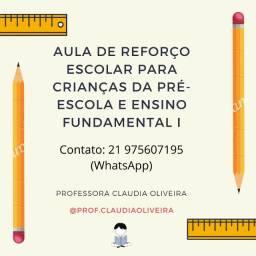Aula particular de reforço escolar (pré-escola e fundamental I) - Promoção