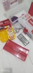 Título do anúncio: Kit odontológico para estudantes, usado poucas vezes, tudo bem novinho!
