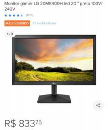 "Título do anúncio: Monitor Gamer LG 20MK400H led 20"" Preto 100V/240V"