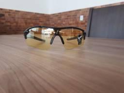 Óculos de ciclismo transparente e lente amarelada