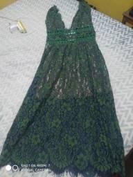 Título do anúncio: Vestido verde d renda
