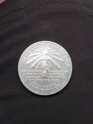 Moeda one dollar ellis island 1986