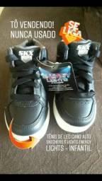 bd7ea0ef3c Tênis de LED cano alto - Skechers S Lights Energy - INFANTIL
