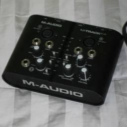 M-audio M-track Plus (sucessora Fast Track) | M-track Plus comprar usado  Rio de Janeiro
