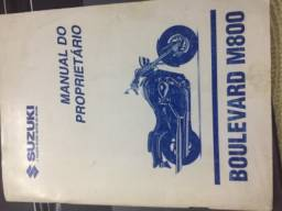 Manual proprietário Suzuki Boulevard M800