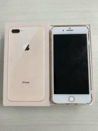 iPhone 8 Plus 64gb dourado na caixa