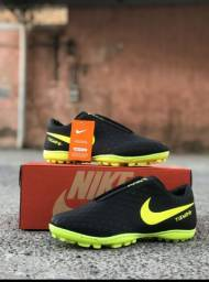 Chuteira Nike Preto Verde