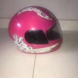 Capacete rosa tamanho 54