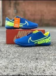 Chuteira Nike Azul Verde