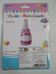 Balão metalizado garrafa