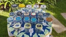 Vidros/frascos para produtos artesanais e artesanato em geral