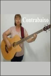 Curso de Contrabaixo e Canto em grupo ou individual
