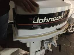 Motor Johnson 25 Hp - Novíssimo - Raridade - Relíquia - 50 horas uso