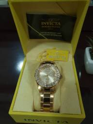 Relógio Invicta Feminino, Modelo 15252, banhado a Ouro 18 Quilates