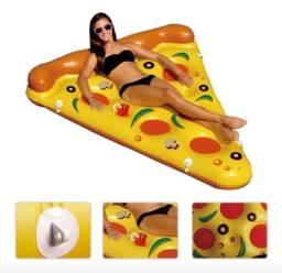 Boia Inflável Gigante Pizza - Colchão para Piscina
