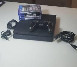 PlayStation 4 Slim (Original) 1 TB + 1 Controle + 4 Jogos