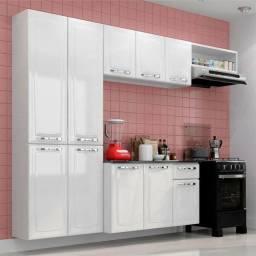 Cozinha Compacta 4 Peças 10 Portas Branco Amanda Itatiaia