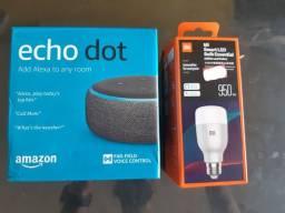 Kit Som Assiste Alexa + Lâmpada inteligente
