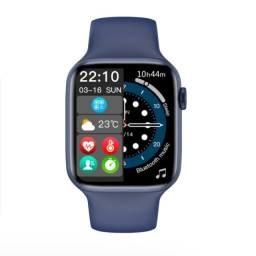 Título do anúncio: Smartwatch Lançamento Iwo w37 Series 7 Azul 44mm em Português
