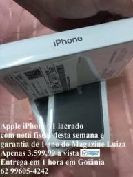 Título do anúncio: Lacrado iPhone 11 com nota fiscal e garantia, o menor preço de Goiás! Só aqui